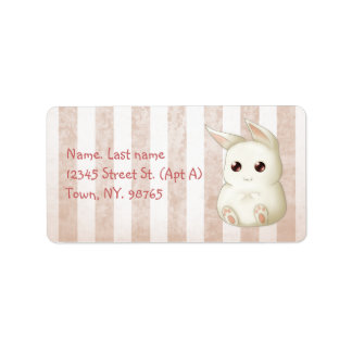 Cute Kawai Bunny Rabbit Address Label
