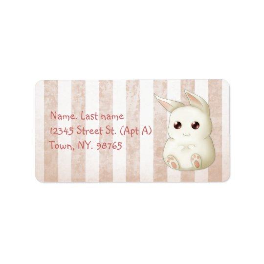 Cute Kawai Bunny Rabbit Address Label