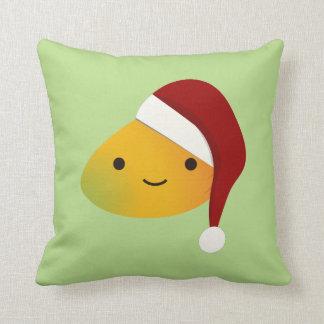 Cute Kawai Christmasi Mango Cushion