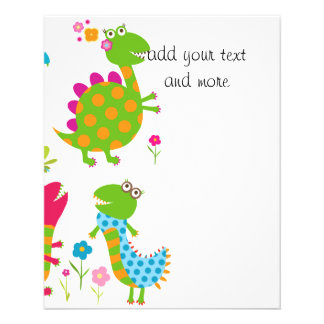 Cute,kawai,dinosaurs,kids,fun,happy,colourful,chic Flyer