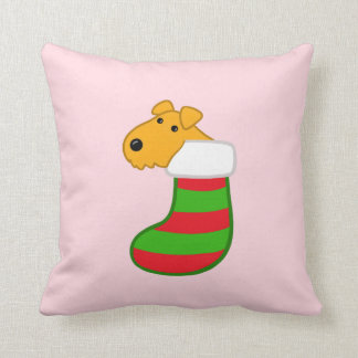 Cute Kawaii Airedale Dog Christmas Stocking Pillow