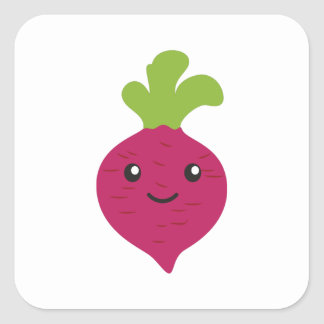 Cute Kawaii Beet Square Sticker