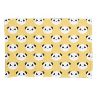 Cute Kawaii Blushing Panda Face Pattern Pillowcase