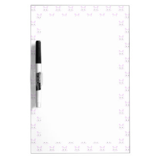 "Cute Kawaii Bunny Rabbit Face ""Polka Dot"" Pattern Dry Erase Board"