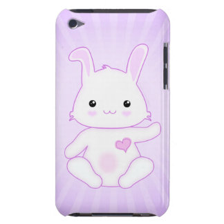 Cute Kawaii Bunny Rabbit in Purple and Lilac Barely There iPod Cover