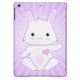 Cute Kawaii Bunny Rabbit in Purple and Lilac Cover For iPad Air