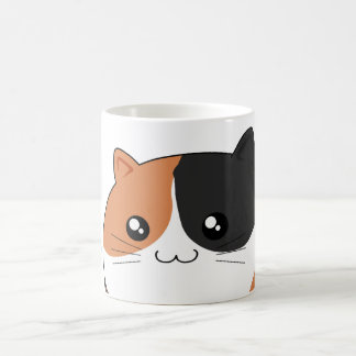 Cute Kawaii Calico kitty cat Basic White Mug
