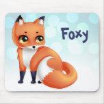 Cute Kawaii cartoon fox Mouse Pad