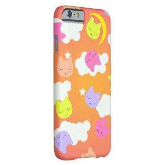 Cute kawaii cat sleep on night sky barely there iPhone 6 case