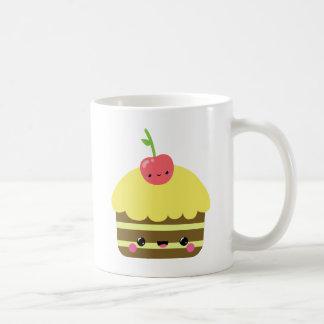 Cute Kawaii Chocolate Lemon Cake Coffee Mugs