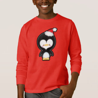 Cute Kawaii Christmas Penguin Kids Jumper T-Shirt