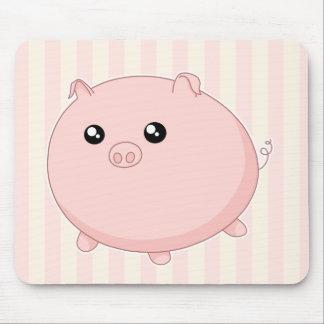 Cute Kawaii chubby pink pig Mousepad