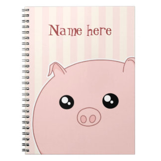 Cute Kawaii chubby pink pig Notebooks