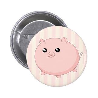 Cute Kawaii chubby pink pig Pin