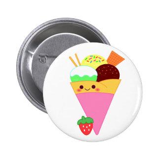 cute kawaii crape 6 cm round badge