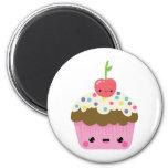 Cute Kawaii Cupcake 6 Cm Round Magnet