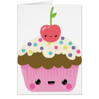 Cute Kawaii Cupcake Card