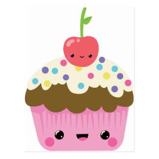 Cute Kawaii Cupcake Postcard