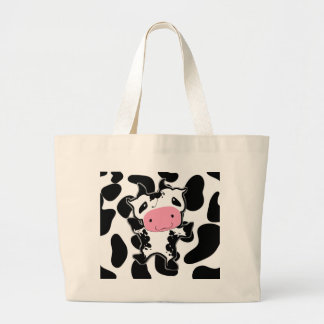 Cute Kawaii Dancing Cow Jumbo Tote Bag