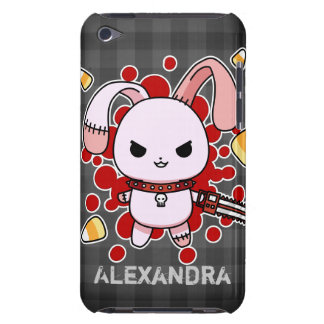 Cute Kawaii evil bunny with chainsaw iPod Touch Cases