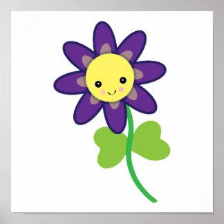 CUTE Kawaii  FLOWER Character Poster