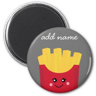 Cute Kawaii French Fries with Custom Name Magnet