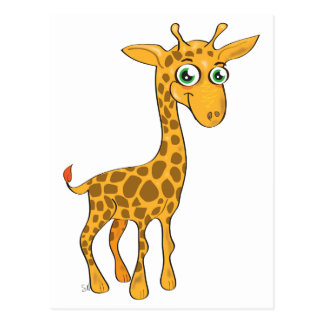Cute Kawaii Giraffe Postcard