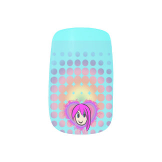 Cute Kawaii Girl Anime Minx Minx Nail Art