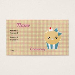 Kawaii cupcakes business cards business card printing zazzle cute kawaii girly muffin cupcake business card colourmoves