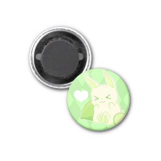 Cute kawaii green lime bunny fridge magnet