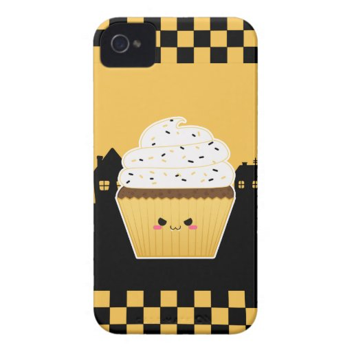 Cute Kawaii Halloween cupcake Postage Stamps Case-Mate iPhone 4 Cases
