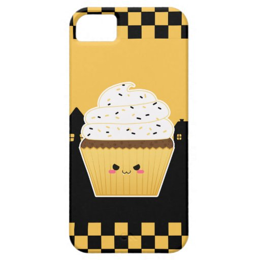 Cute Kawaii Halloween cupcake Postage Stamps iPhone 5 Case