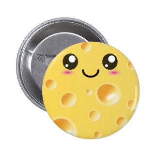 Cute Kawaii Happy Cheese Pins