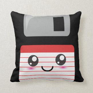 Cute / Kawaii Happy Floppy Disk Pillow Throw Cushion