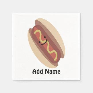 Cute Kawaii Hot Dog Paper Napkin