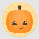 Cute Kawaii Jack o'Lantern Round Sticker