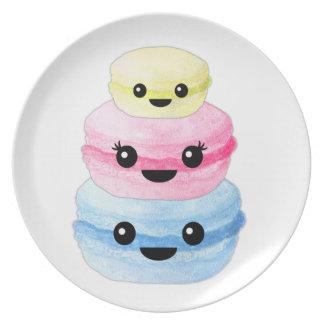 Cute Kawaii Macaron Stack Plate