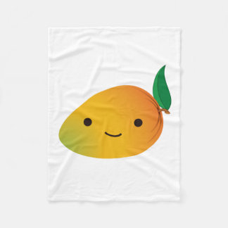 Cute Kawaii Mango Fleece Blanket