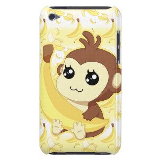 Cute Kawaii monkey holding banana iPod Touch Cover