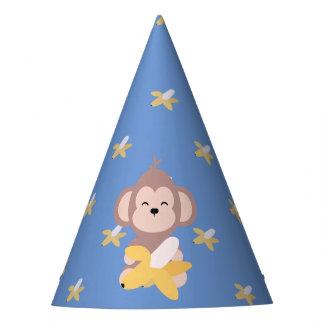 Cute Kawaii Monkey with Banana Party Hat
