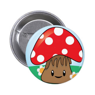 Cute Kawaii Mushroom Buttons
