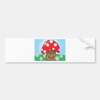 Cute Kawaii Mushroom Bumper Stickers