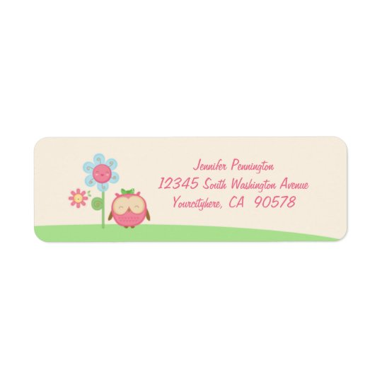 Cute kawaii owl return address envelope labels