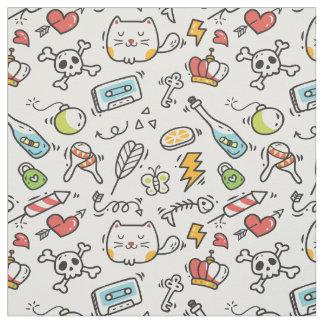 Cute Kawaii Pattern fabric