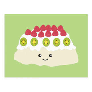 Cute Kawaii Pavlova Postcard
