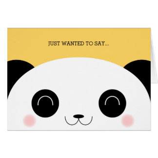 Cute Kawaii Peekaboo Panda Face Thank You Card
