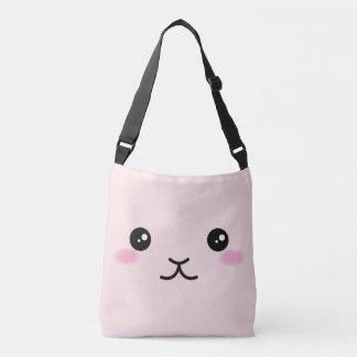 Cute, kawaii, pink bunny design crossbody bag