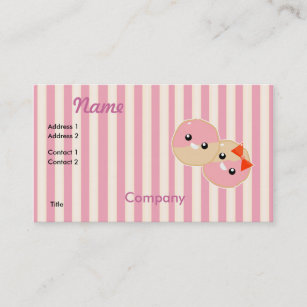 Kawaii business cards business card printing zazzle cute kawaii pink frosted cookies business card colourmoves