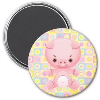 Cute Kawaii pink pig Pattern Magnets