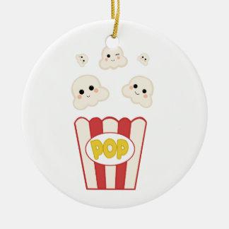 Cute Kawaii Popcorn Ceramic Ornament